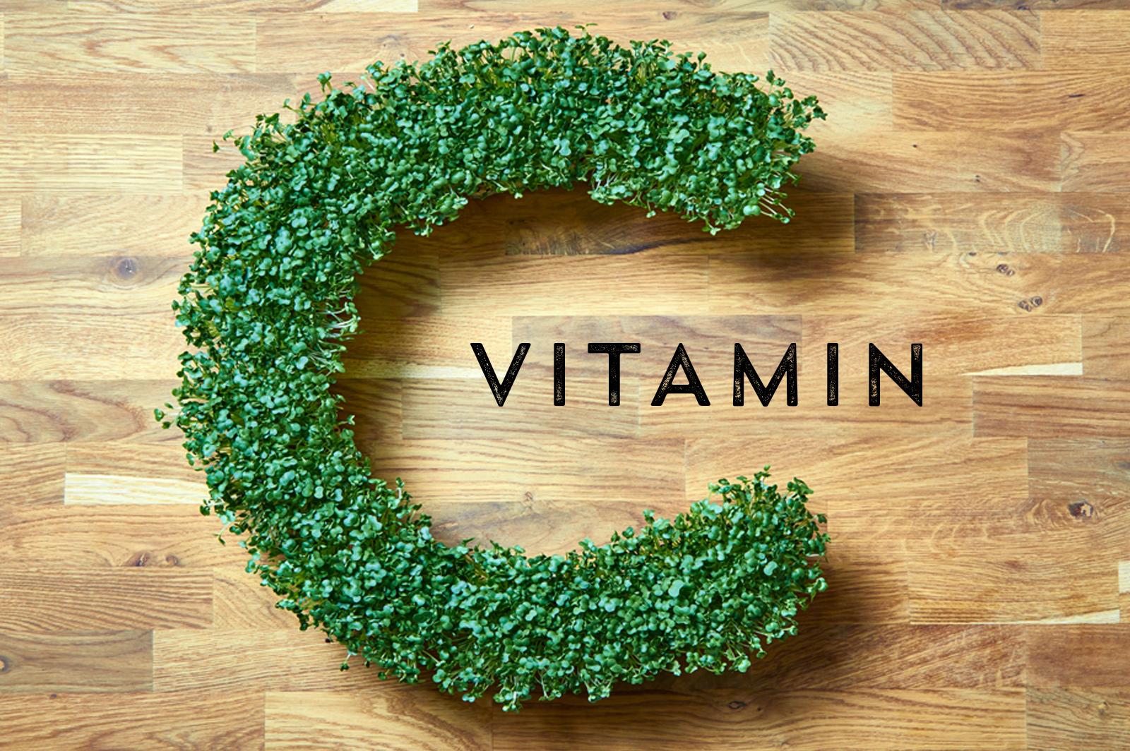 Vitamin C in salad cress