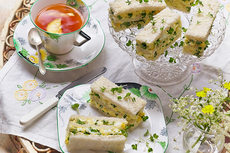 Egg and Salad Cress Afternoon Tea Sandwiches