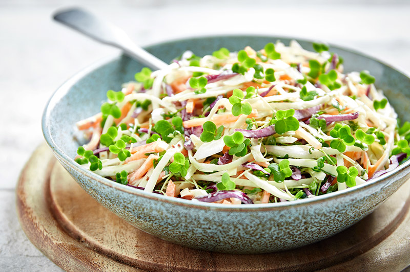 Coleslaw with Salad Cress