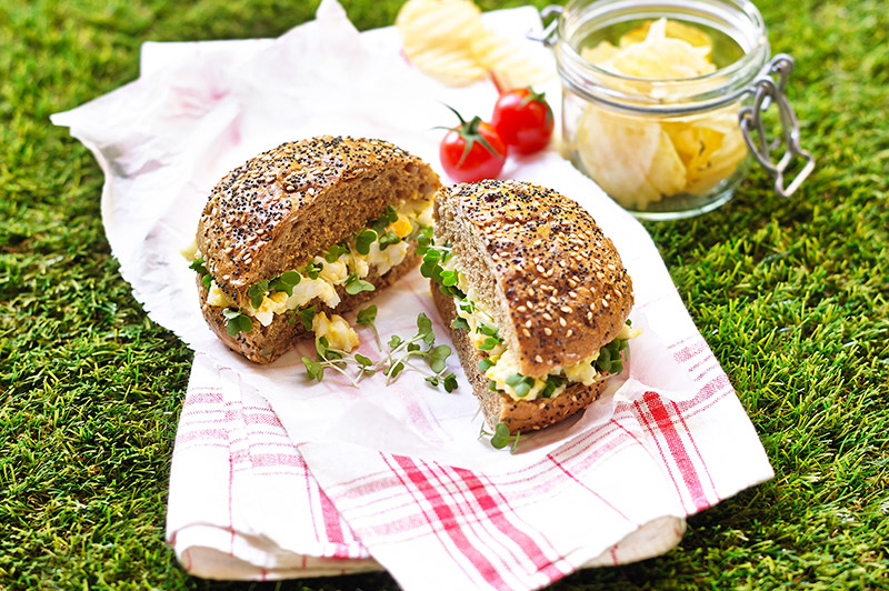 Egg Mayonnaise and Salad Cress Seeded Rolls