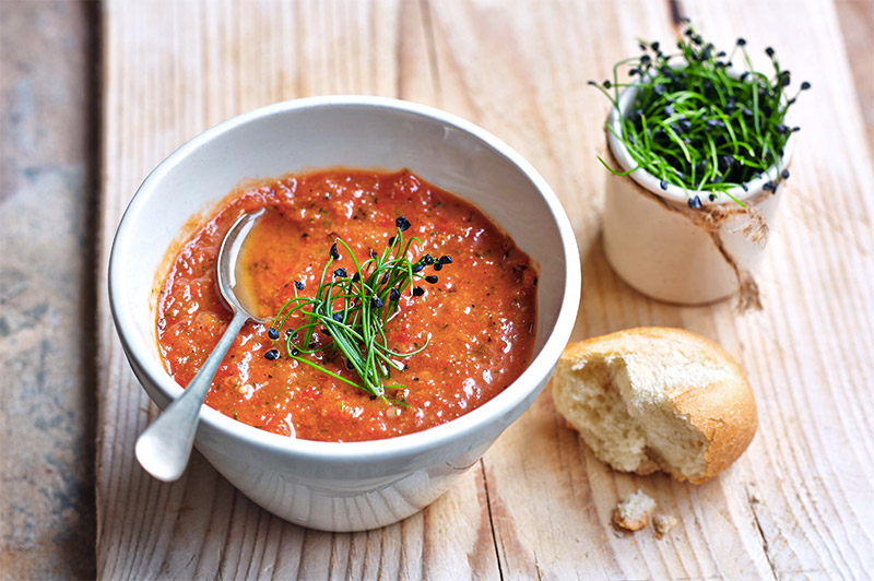 Gazpacho with Garlic Chives