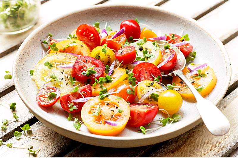 Tomato, Red Onion and Cress Salad