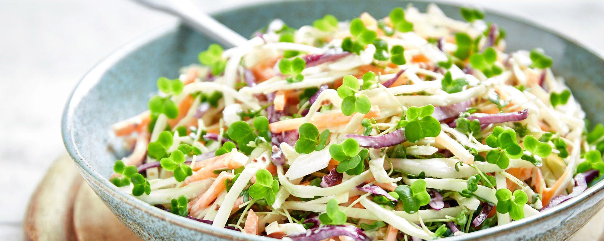 Coleslaw with Salad Cress