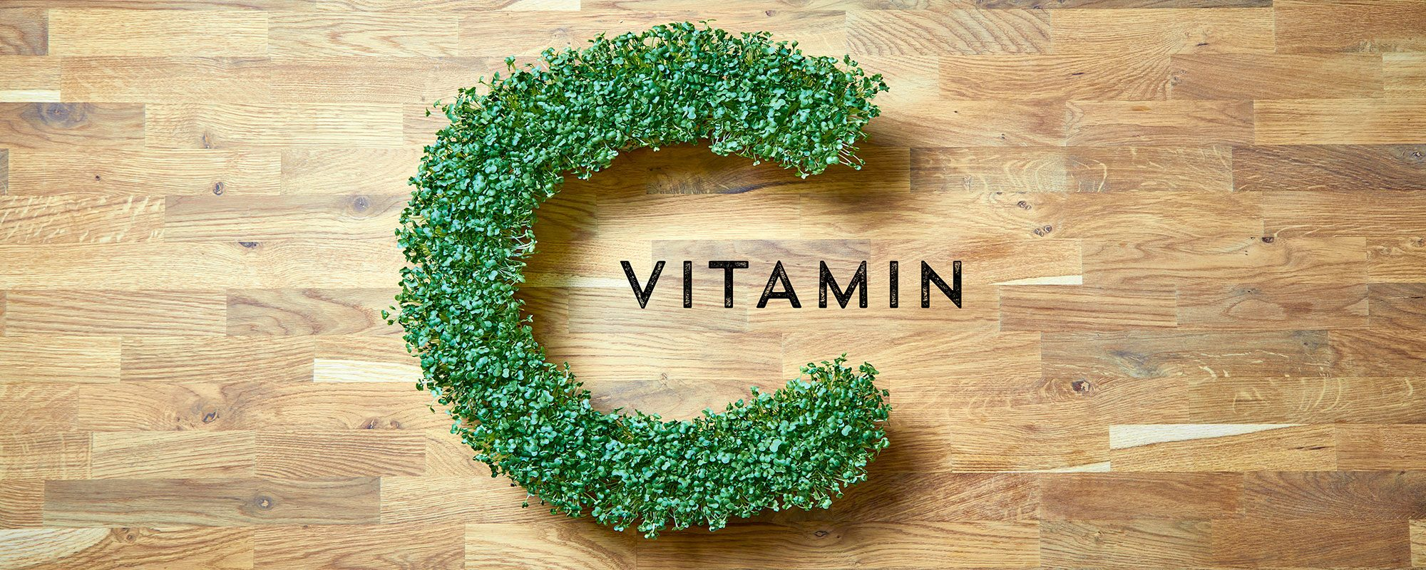 Vitamin C in salad cress