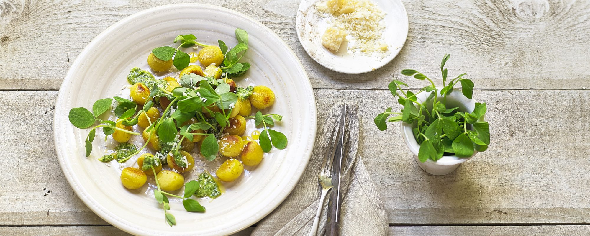 Gnocchi with Cressto & Pea Shoots