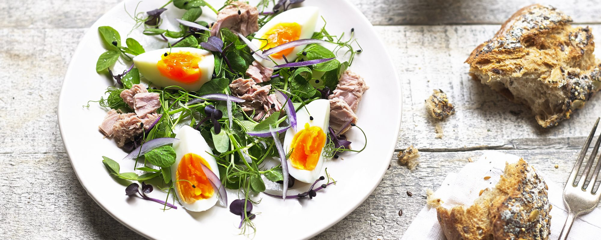 The Best Pea Shoots & Tuna Salad