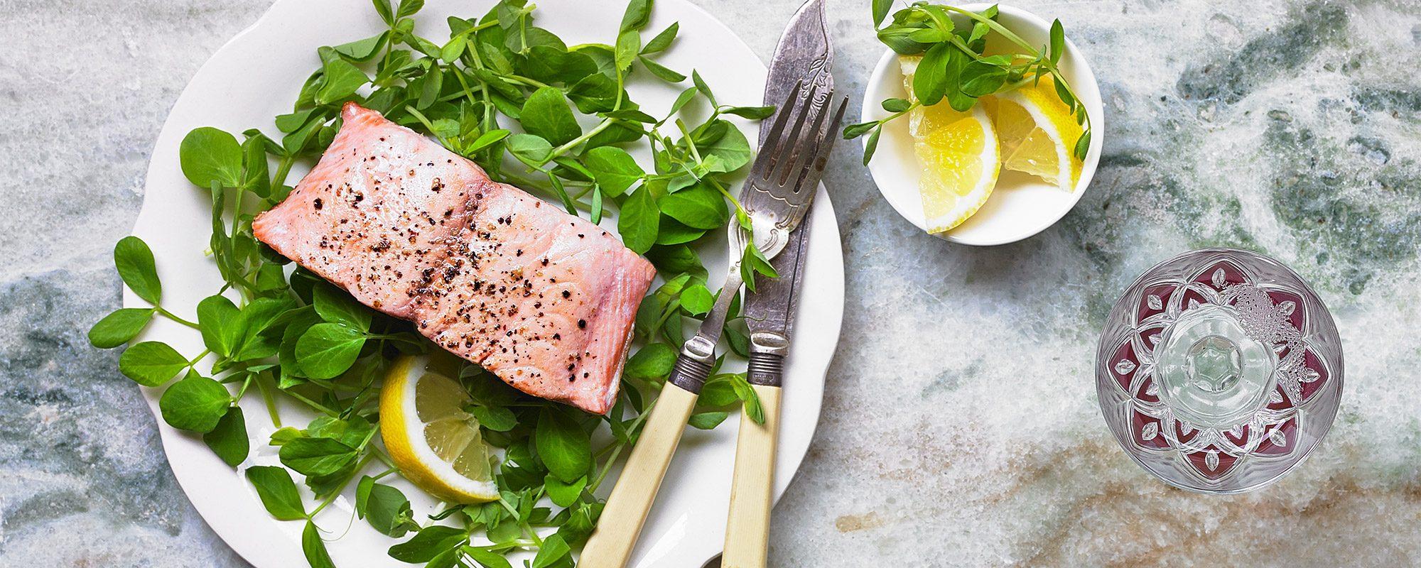 Salmon & Pea Shoots