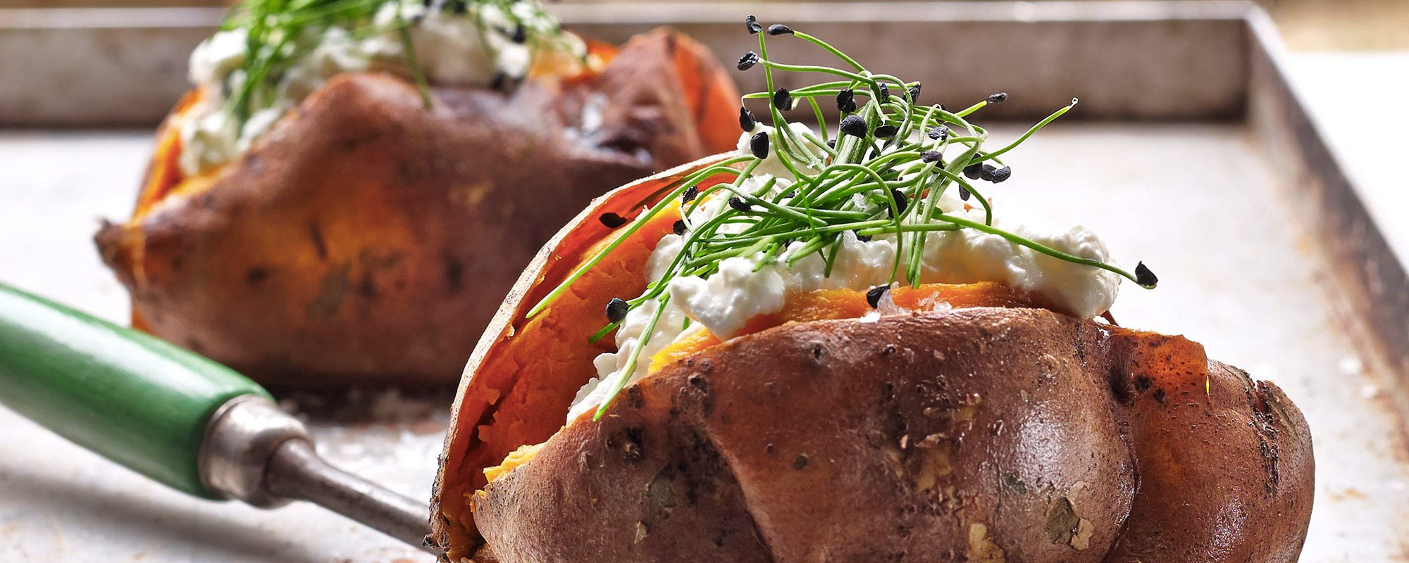 Marvelous Recipe Sweet Jacket Potato With Cottage Cheese And Garlic Interior Design Ideas Gentotryabchikinfo