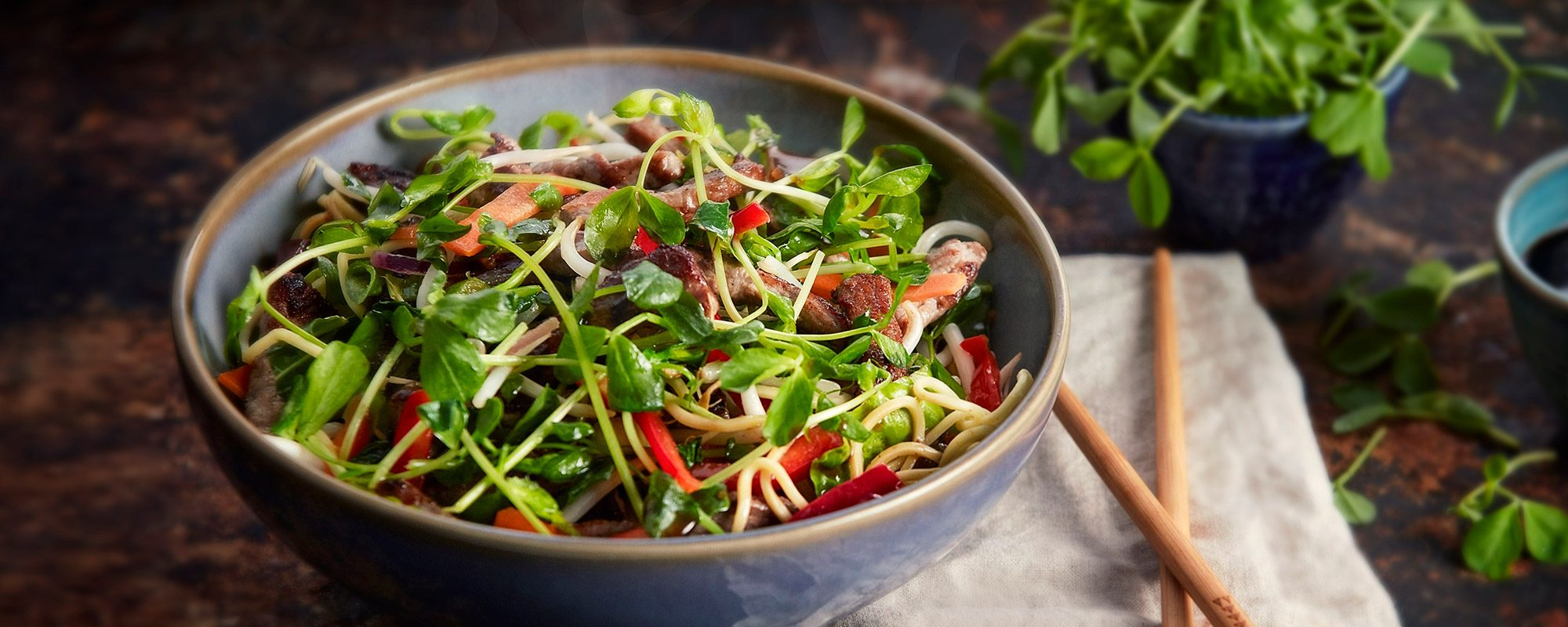 Beef and Peashoots Stir Fry