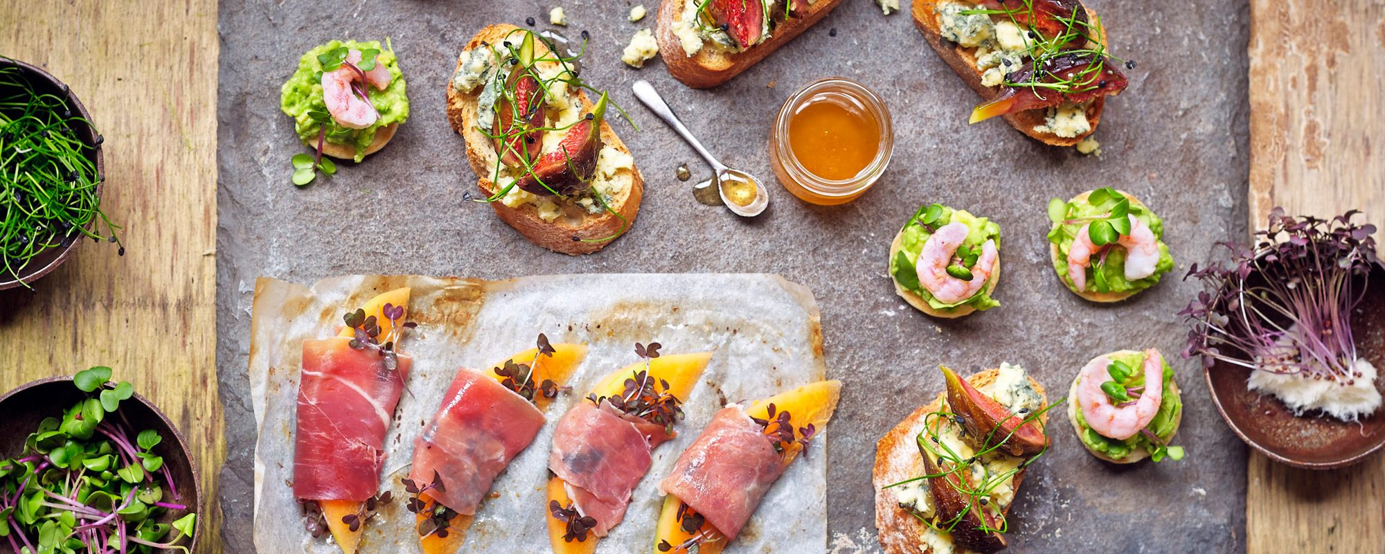 Party Nibbles with Microgreens