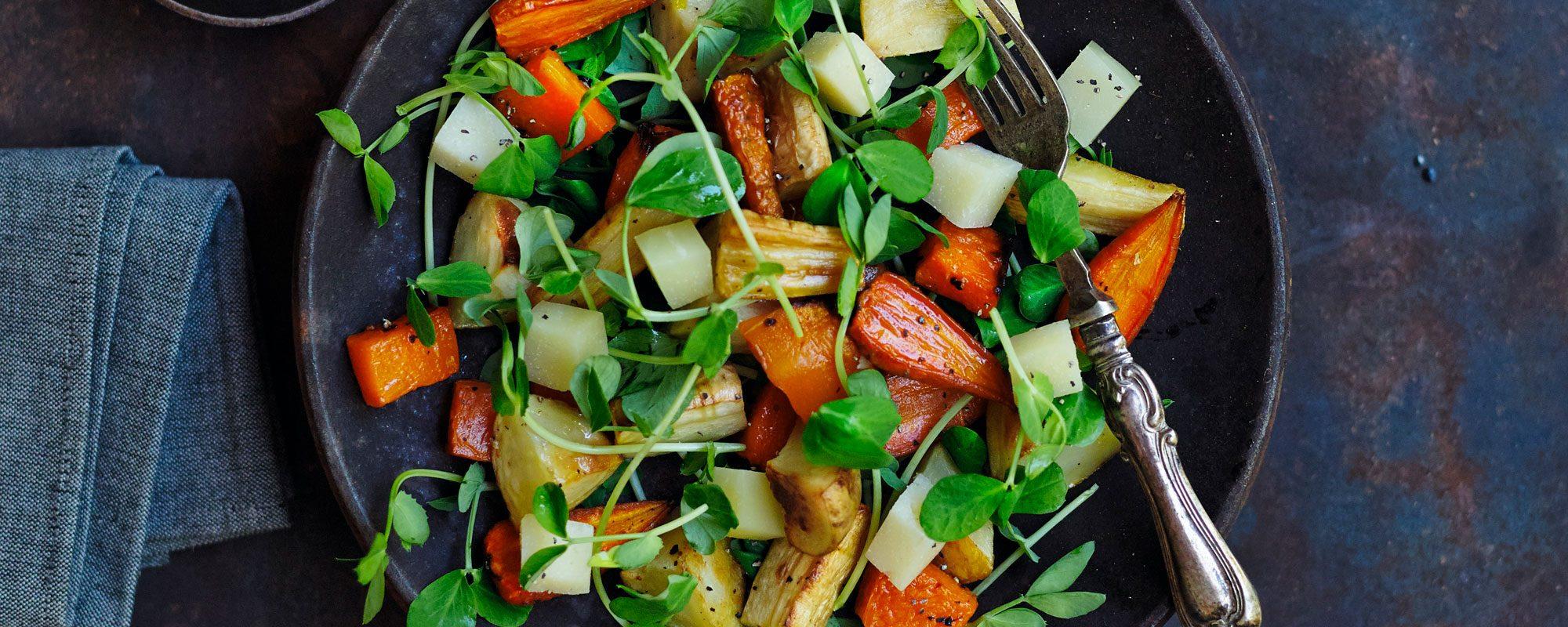 Pea Shoots Winter Salad