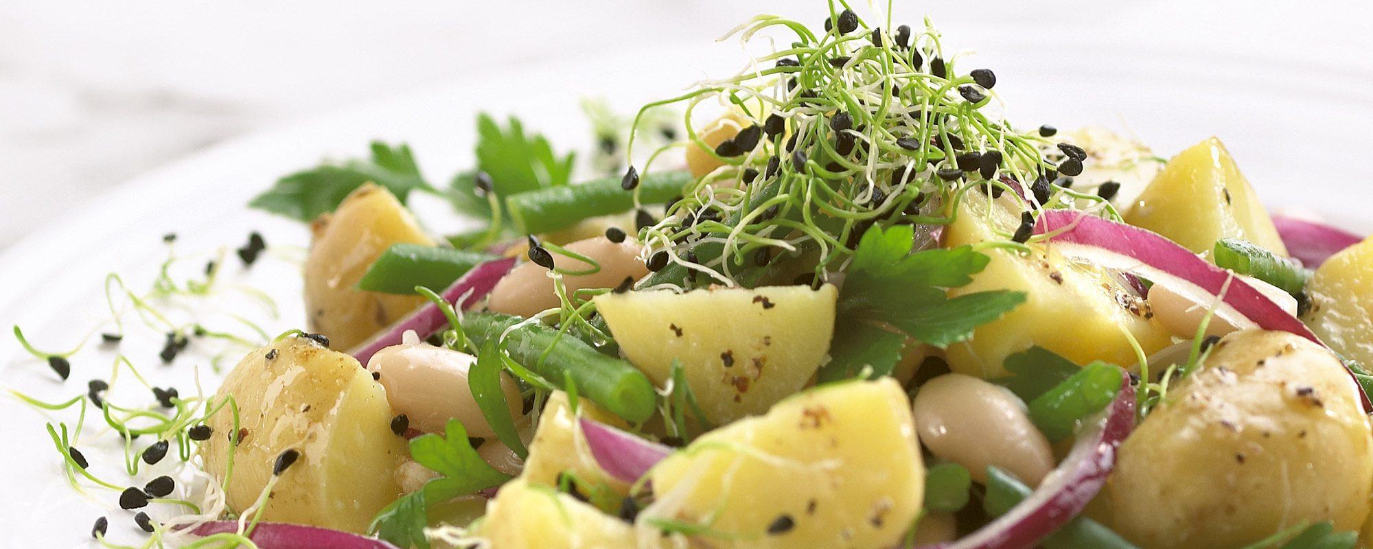 Garlic chives potato salad